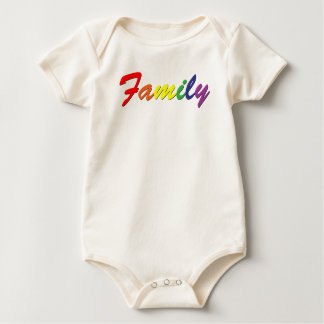 Rainbow Family Baby Bodysuit