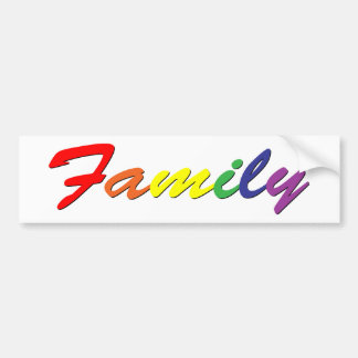 Rainbow Family Bumper Sticker