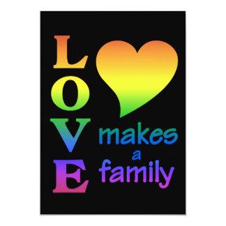 Rainbow Family invitation, customize Card