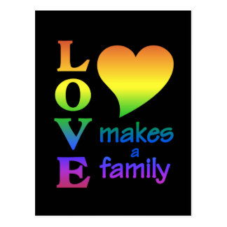 Rainbow Family postcard, customize Postcard