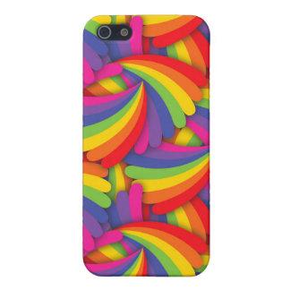 Rainbow Fan Pattern Case For iPhone SE/5/5s
