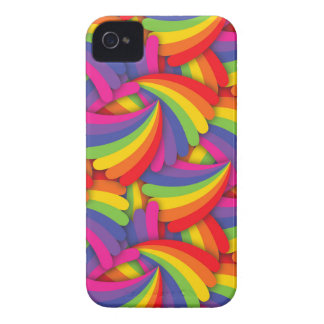 Rainbow Fan Pattern Case-Mate iPhone 4 Case