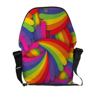 Rainbow Fan Pattern Courier Bag