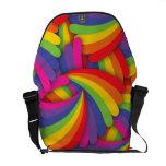 Rainbow Fan Pattern Courier Bags