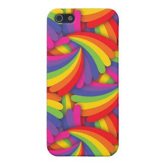 Rainbow Fan Pattern iPhone SE/5/5s Cover