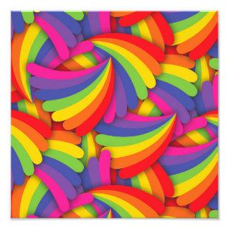 Rainbow Fan Pattern Photo Art