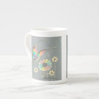 Rainbow Fantasy Butterfly Tea Cup
