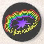 Rainbow Farts coaster