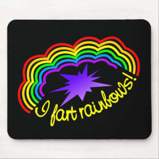 Rainbow Farts mousepad