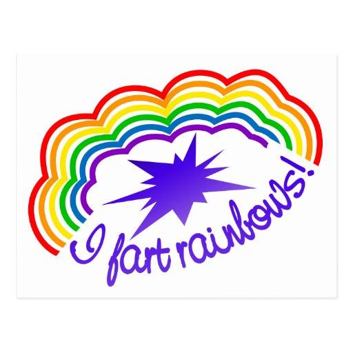 Rainbow Farts postcard, customize