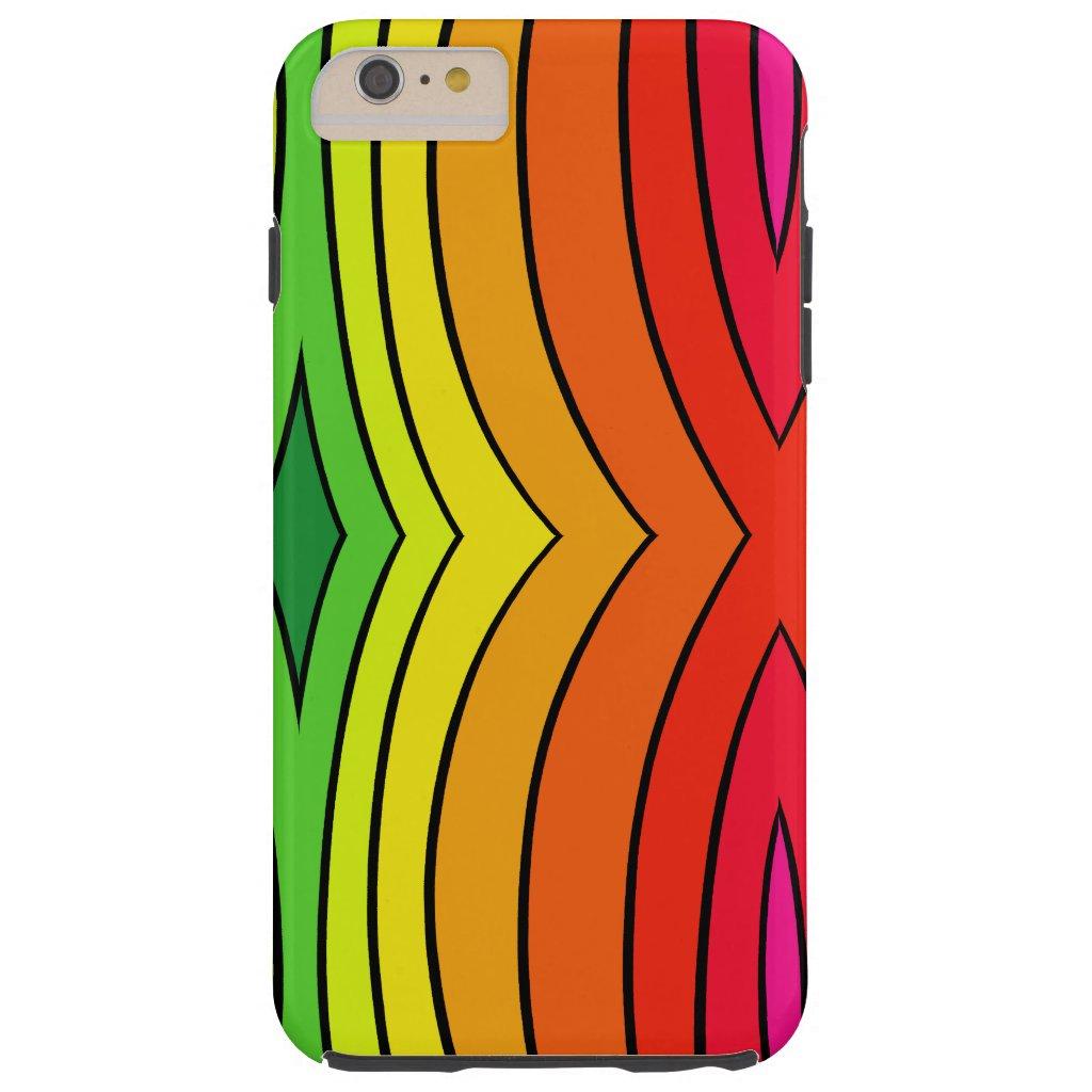 Rainbow Fashion Trendy Pop Art Fun CricketDiane Tough iPhone 6 Plus Case