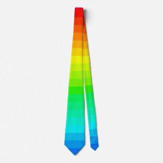 Rainbow Fashion Trendy Spectrum PRIDE Diversity Neck Tie