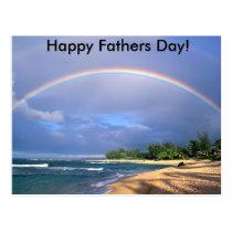 Rainbow Fathers Day Postcard