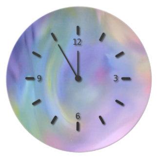 """Rainbow Faux Clock"" Plate"
