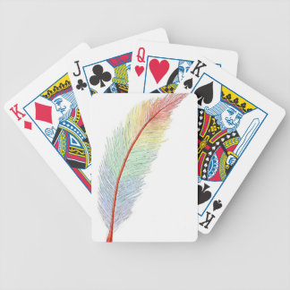 Rainbow Feather Bicycle Playing Cards