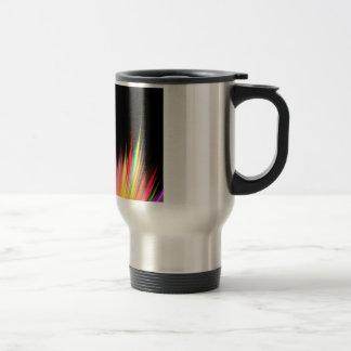 Rainbow Feather Wisps Travel Mug