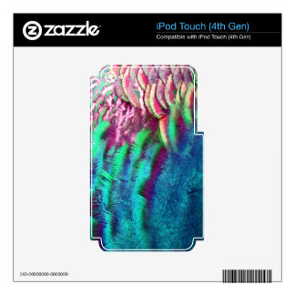 Rainbow Feathers Running Decals For iPod Touch 4G