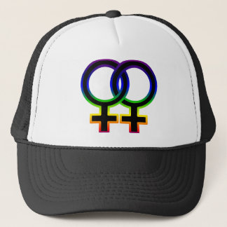 Rainbow Female Homosexual Symbol Trucker Hat
