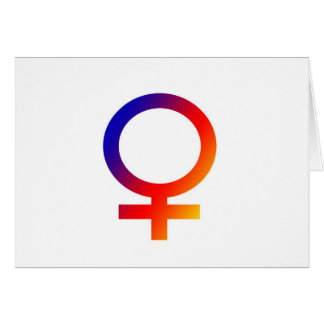 Rainbow Female Symbol Card