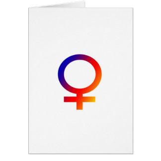Rainbow Female Symbol Card