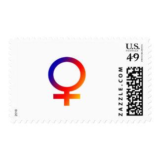 Rainbow Female Symbol Postage Stamp