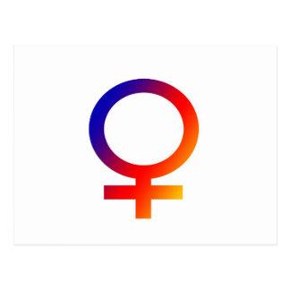Rainbow Female Symbol Postcard