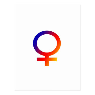Rainbow Female Symbol Postcard