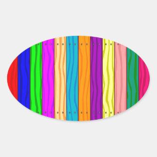 Rainbow Fence Oval Sticker