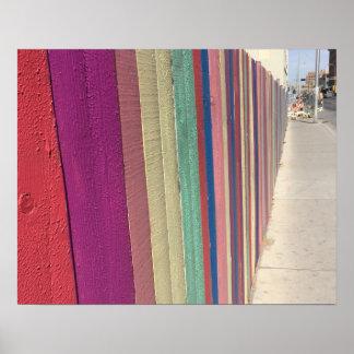 Rainbow fence poster