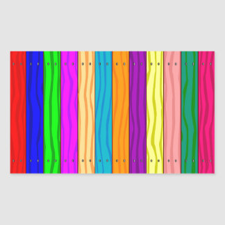 Rainbow Fence Rectangular Sticker