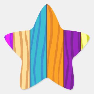 Rainbow Fence Star Sticker