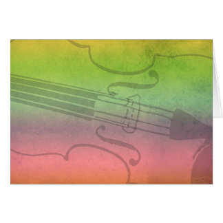 Rainbow Fiddle for violinists Customizable Card