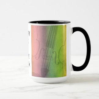 Rainbow Fiddle for violinists Customizable Mug