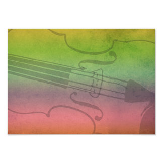 Rainbow Fiddle for violinists Customizable Posters