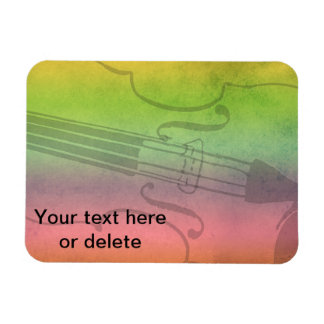 Rainbow Fiddle for violinists Customizable Rectangular Photo Magnet