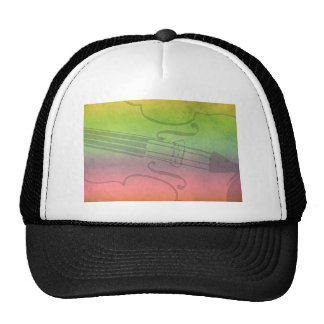 Rainbow Fiddle for violinists Customizable Trucker Hat