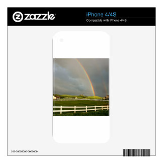 Rainbow Field Farm Stretch Decal For The iPhone 4S
