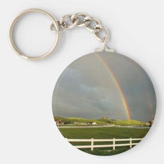 Rainbow Field Farm Stretch Key Chain