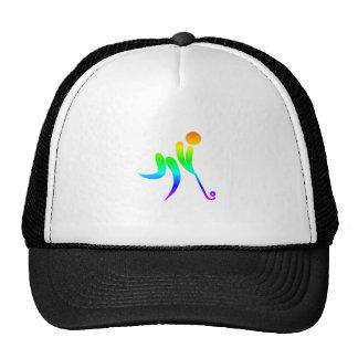 Rainbow Field Hockey Trucker Hat
