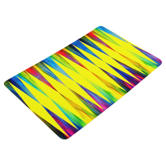 [Rainbow Fiesta] Bright Harlequin Geometric Floor Mat