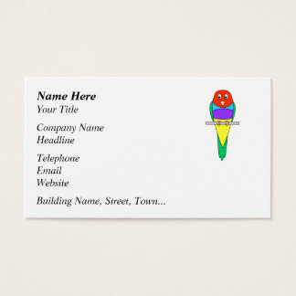 Rainbow Finch Bird. Colorful Gouldian. Business Card