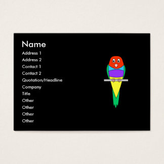 Rainbow Finch Bird. Gouldian Finch. Business Card