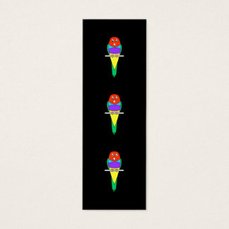 Rainbow Finch Bird. Gouldian Finch. Mini Business Card