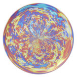 Rainbow Fire Muted Party Plates