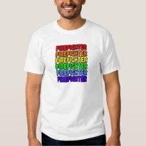 Rainbow Firefighter Tshirts
