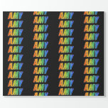 """[ Thumbnail: Rainbow First Name """"Amy""""; Fun & Colorful Wrapping Paper ]"""