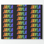 """[ Thumbnail: Rainbow First Name """"Jayla""""; Fun & Colorful Wrapping Paper ]"""