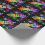 """[ Thumbnail: Rainbow First Name """"Kimberly"""" + Fireworks Wrapping Paper ]"""