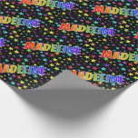 """[ Thumbnail: Rainbow First Name """"Madeline"""" + Stars Wrapping Paper ]"""