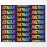 """[ Thumbnail: Rainbow First Name """"Nathan""""; Fun & Colorful Wrapping Paper ]"""